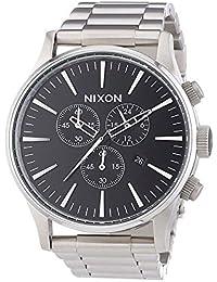 Nixon Herrenuhr Chronograph Quarz mit Edelstahlarmband – A386000-00