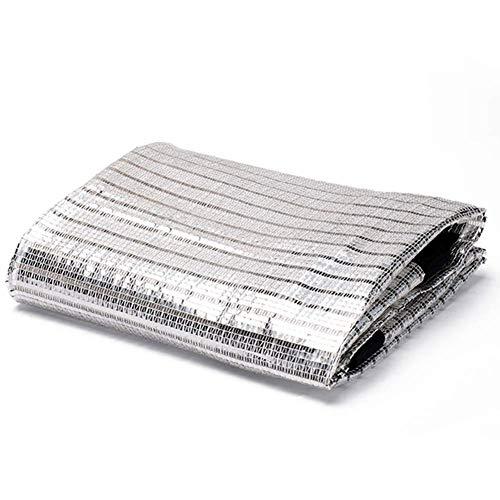 YHEGV Schattentuch Sonnenschutznetz Aluminiumfolie Material Atmungsaktiv Reflektierende Isolierung Stahl Knopflochgrün Pflanzen, 10 Größen (Farbe: Silber, Größe: 2X7m)