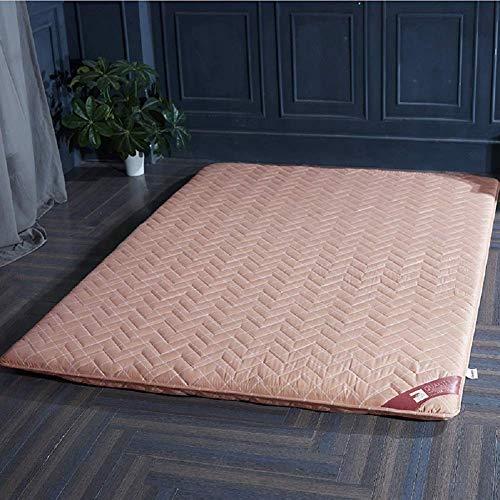 Full-futon-matratze (Schlafmatte bequeme Matratze Verdickte Tatami-Fußmatte, Bodenmatte im japanischen Stil Matratzenauflage Traditioneller japanischer Futon Bodentemperaturisolation Twin Full Queen King-Rot 150x200 cm (5)