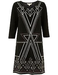 Yumi Art Deco vestido negro