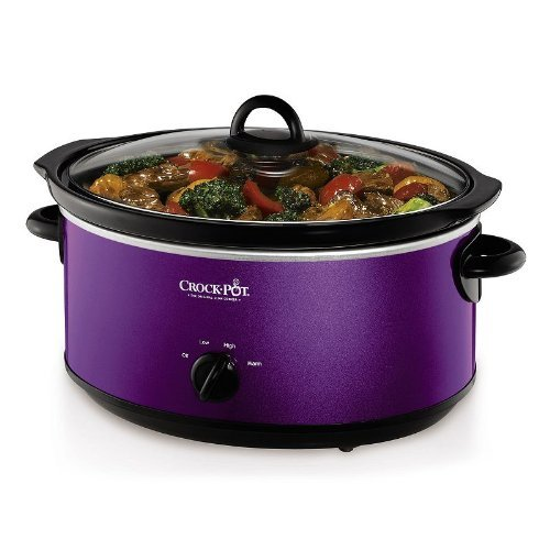 Crock-Pot 7-Quart Purple Oval Manual Slow Cooker by Crock-Pot