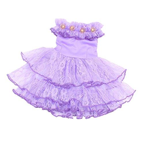 MagiDeal Hübsche Puppen Kleid Prinzessin Tüll Sommerkleid Bekleidung für 18'' American Girl Puppe Party Kostüm - - Golden Girls Kostüm