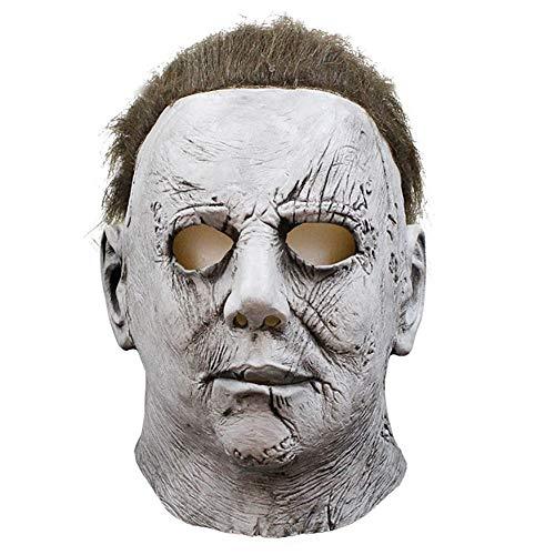 Story of life Horror Maske Full Head Deluxe Latex Mit Haaren Halloween Kostüm Masken