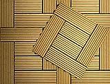 Klicken Baldosa WPC Composite Base plástica para Decks compuestos fáciles de Instalar en Patios, Balcones, azoteas y áreas de Jacuzzi al Aire Libre (1 sqm, Roble)