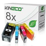 8 Kineco Tintenpatronen kompatibel zu HP 920 XL 920XL für HP OfficeJet 7500A e-All-in-one, OfficeJet 7000, OfficeJet 6500A Plus, OfficeJet 6000 Wireless - Schwarz je 55ml, Color jue 17ml