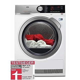 AEG Wärmepumpentrockner T8DE86685 in Weiß – Mit ProSense- und SensiDry-Technologie – Wäschetrockner A+++ (176 kWh pro Jahr) mit 8kg Fassungsvermögen