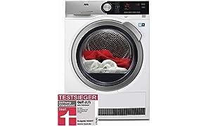 AEG T8DE86685 Wärmepumpentrockner / AbsoluteCare / Wolle-Seide-Outdoor trocknen / 8 kg / Energiesparend / Mengenautomatik / Knitterschutz / Kindersicherung / Schontrommel / Trommelbeleuchtung