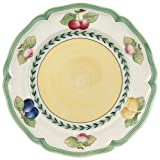 Villeroy & Boch French Garden Fleurence Frühstücksteller, 21 cm, Premium Porzellan, Weiß/Bunt