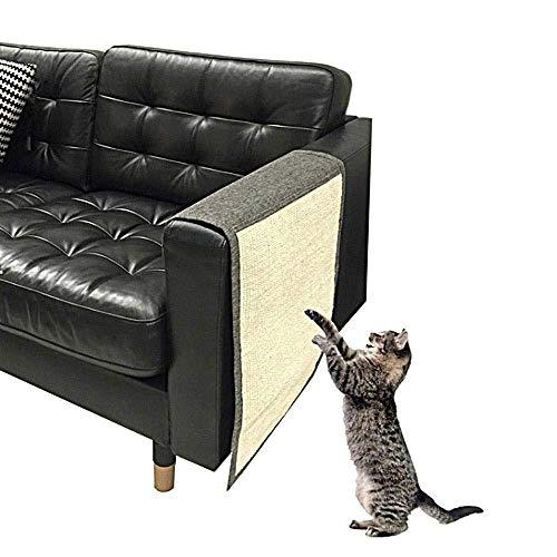 KOBWA Protector de sofá antiarañazos, Estera de arañazo de gato Sofá de sisal Shield Couch Protector de arañazos Scratcher de gato para proteger sus muebles