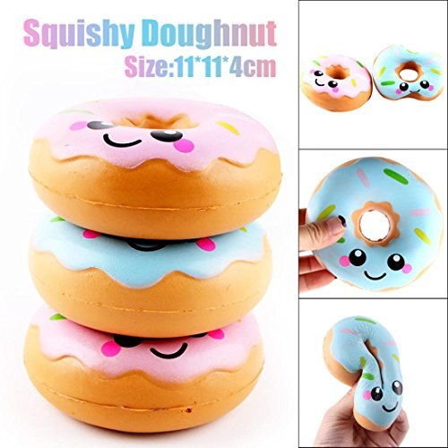 vneirw Lovely Donut Jumbo Duft Squishies Slow Rising Baby Squeeze Soft Spielzeug Stress Relief Spielzeug, blau