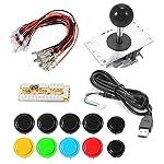 XCSOURCE® Zero Delay Arcade Spiel USB Encoder PC Button Joystick 2/4/8 Way Einstellbare DIY Kit für Mame Jamma Machine Gaming AC700