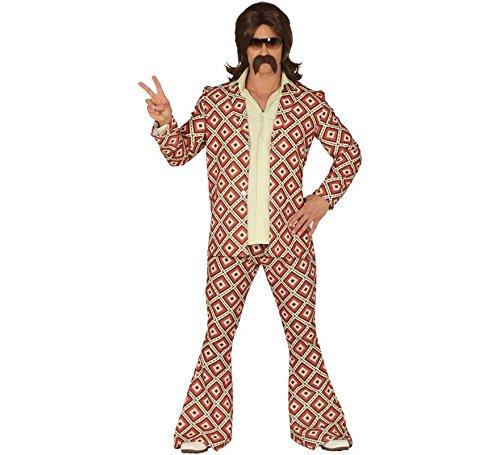 Costume disco anni 70 hippie uomo adulto taglia L 52 54