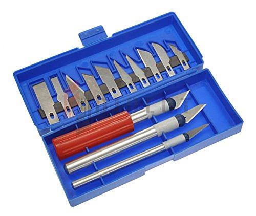 Silver Skalpelle Bastelmesser Hobbymesser Set mit 12 Klingen 10799