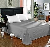 WOLTU BW5003dgr , Tagesdecke Bettüberwurf Bettlaken Betttuch Haustuch Sofaüberwurf ohne Gummizug Decken Überwurf Plaid 100% Baumwolle 240x250 cm Dunkelgrau