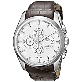 Tissot Couturier T0356271603100 – Reloj de Caballero automático, Correa de Piel Color marrón