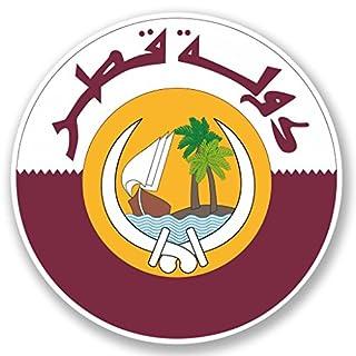 DestinationVinyl 2 x 10cm/100mm Katar Doha Vinyl Selbstklebende Sticker Aufkleber Laptop Reisen Gepäckwagen Cool Zeichen Spaß #5404