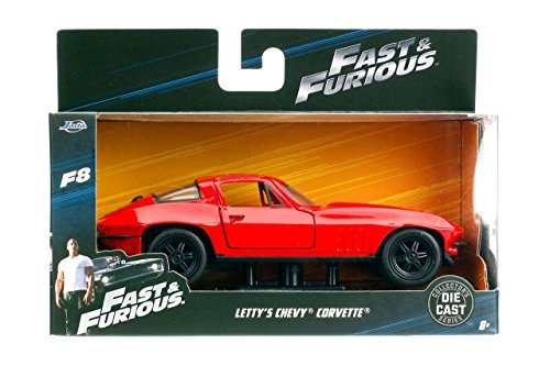 Jada Fast & Furious 8 Diecast Model 1/32 Letty\' S Chevrolet Corvette Toys