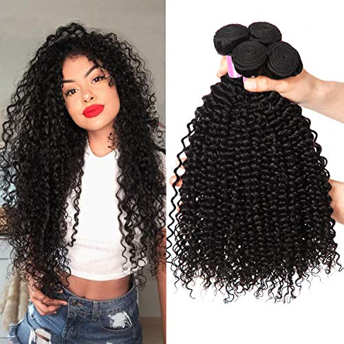 8A Brazilian Hair KinkyCurly Human Hair Bundles 100% Brazilian Rmey Curly Hair Weave Human Hair 20 22 24 Zoll Brasilianische Haare Super Qualität Brasilianisches Echthaar Bundle Total 300g