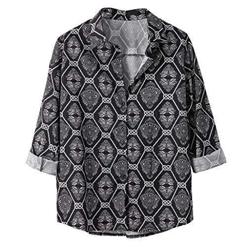 Zolimx Herren Hawaiihemd Kurzarm Freizeit Hemd Button Down Graphic Hemden Herren Herbst Lose Beiläufige Tägliche Leopardenmuster Print Langarm Shirt Top Bluse