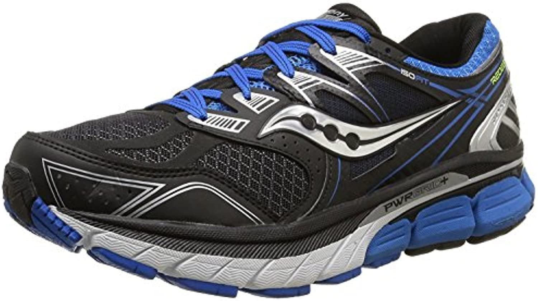 Saucony Men's Redeemer ISO Road Running Shoe, Negro/azul, 47 2E EU/11.5 2E UK