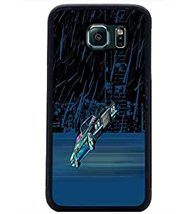 PrintDhaba Car D-2625 Back Case Cover for SAMSUNG GALAXY S6 (Multi-Coloured)