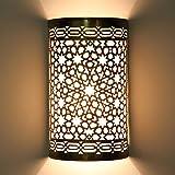 Orientalische Marokkanische Messing Wandlampe Kamila L1848