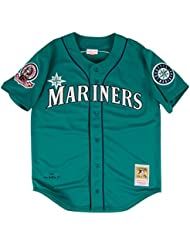 Ken Griffey Jr. Seattle Mariners Mitchell & Ness Authentic 1995 Button Up Jersey Maillot