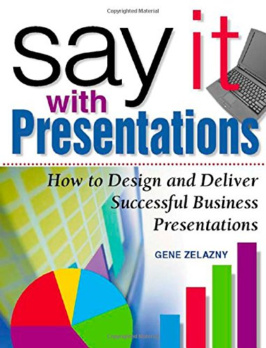 Say it with Presentations: How to Design and Deliver Successful Business Presentations (Research Report S.) por Gene Zelazny