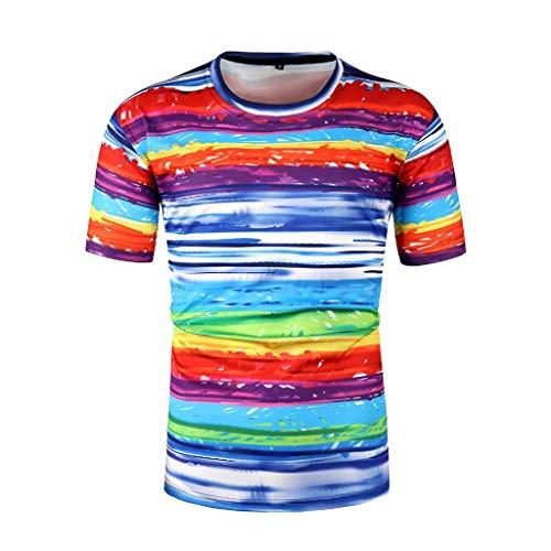 TMOTYE Herren Sommer T-Shirt Mode Rundhals Tee Shirts Basic Print Rundhals Moderner Männer Bedruckt Meliert Mit Aufdruck Slim Fit Kurzarm für Junge Student Junger Erwachsener - Roaring 20's Übergröße Flapper Kostüm