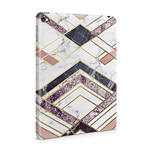 Rough Amethyst & Sapphire Marble Stone Lines Hard Thin Plastic Phone Case Cover For iPad Mini 4