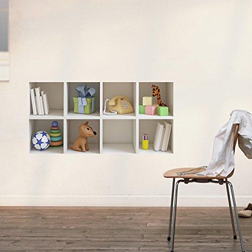 bluelover-kid-regalo-wall-art-cabinet-3d-equitazione-lattice-parete-stickers-pag-rimovibile-griglia-