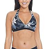 Zoggs Damen Soft Nature Halter Top Bikini, Black/Multi, 42