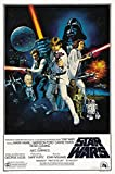 Affiche de film 'Star Wars: Episode IV - A New Hope' 1977, George Lucas, Papier, A2