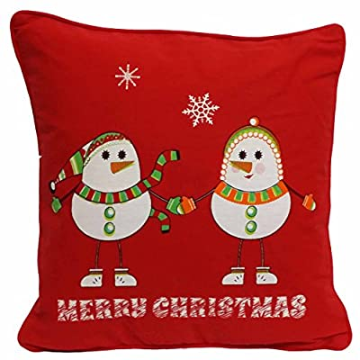 Christmas Snowmen  Cushion Covers 100% Cotton By Adam Linens