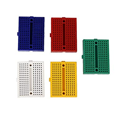 Generic E_14009760 Imported 5 Pieces 5 Colors Universal 170 Tie-Point Prototype Solderless Pcb Breadboard