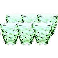 Set 6 Pz Bicchieri Acqua In Vetro Flora Color Verde 26 Cl