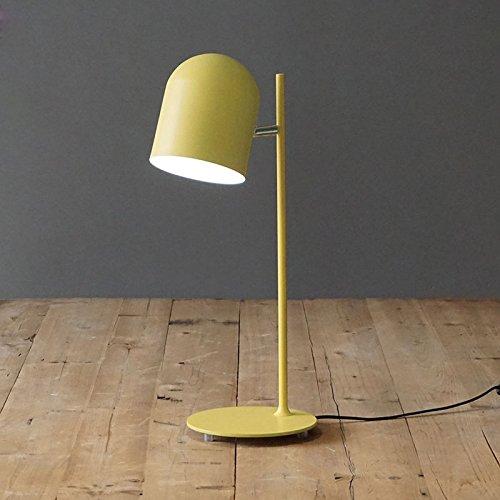 Tisch- & Nachttischlampen-WXP Desktop-Tischlampen Energiesparende Tischlampe Knopfschalter Tischlampe LED-Lampen Verschiedene Farben erhältlich Art und Weise Nachttischlampe -WXP ( Farbe : Gelb )