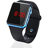 Metallic Blue Square LED Multi-Functional Automatic Sports Watch for Men's Kids Watch for Boys, Girls, Women- Watch for…