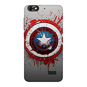 Special Blood Red Round Back Case Cover for Honor 4C