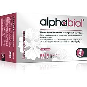 alphabiol Schwangerschaft für den Bedarf in der Schwangerschaft und Stillzeit, 60 Kapseln