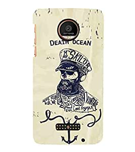 Cartoon, Black, Cartoon and Animation, Death Ocean, Sailor, Printed Designer Back Case Cover for Coolpad Max