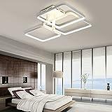 Das Zimmer war modern Deckenlampe LED8026 Arbeitsscheinwerfer, einfache high Sign Quadrat Gitterwerk Zimmer Grünes Zimmer Decke lampen Laternen leuchten (Farbe: weißes Licht-3/Große 3 +3,5 +4)