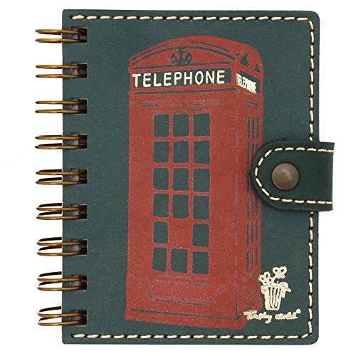 Listín telefónico de bolsillo, agenda telefónica pequeña, con anillas, papel...