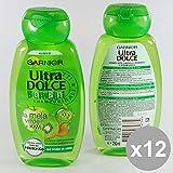 Set 12Ultra Dolce Shampoo Kinder 250Grüner Apfel & Kiwi Kompatible für Haar