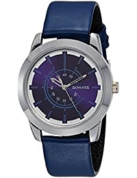 Sonata Analog Blue Dial Men's Watch -NK7924SL08