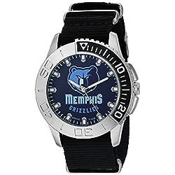 Game Time Herren-'Starter' Quarz Metall und Nylon Automatik Uhr, Farbe: Schwarz (Modell: nba-sta-mem)