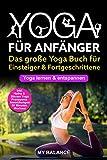 Yoga für Anfänger: Das große Yoga Buch für Einsteiger & Fortgeschrittene - Yoga lernen & entspannen - Inkl. Hatha & Bikram Yoga, Pranayama Atemübungen und 30 Minuten Workout - Übungen mit Bildern -