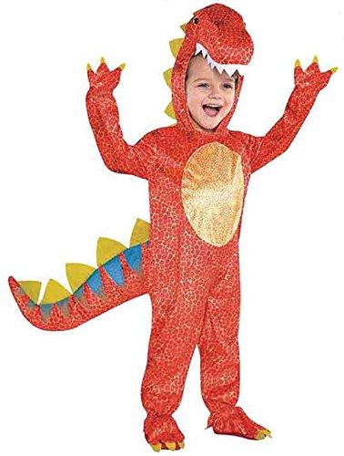 Joker 884660 - Costume per travestimento da Dinosauro, Bambino, Multicolore, taglia XS (1-3 anni)