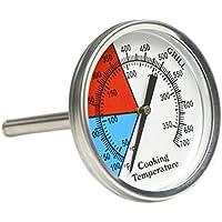 Indicador de temperatura termómetro profesional Onlyfire para horno, barbacoa, parrilla y similares, esfera de 53 mm