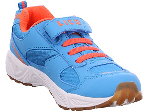 Lico Bob VS Unisex-Kinder Hallenschuhe Blau/Orange